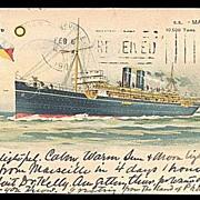"SOLD P & O S.S. ""Marmora"" Steamer Ship 1905 Postcard"