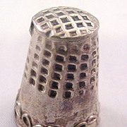 Early 1900s Sterling Silver Thimble - Mexico? Intricate