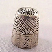 Early 1900s Sterling Silver 10 Panel Thimble