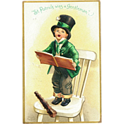 Ellen Clapsaddle St. Patrick´s Day Boy Postcard
