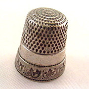 Sterling Size 6 with Edge Design 1910 Thimble