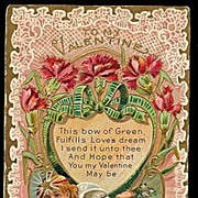 SOLD Lovely ´To My Valentine´ Cherub 1908 Postcard