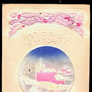 Highly Embossed w Disc Insert Christmas 1913 Postcard