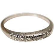 SALE 40s Pave Set Diamond Platinum Ring