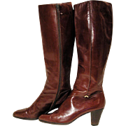 Vintage Tall Equestrian Ferragamo Boots size 8AA