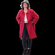 1960s Shagmoor Pink-Red Boucle Winter Coat