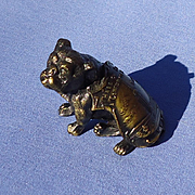 1933 bronze English Bulldog Century of Progress souvenir