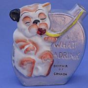 SALE 1920/30s Bonzo liquor flask Japan