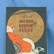 "art deco flapper & Borzoi bridge score pad 8"""