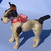 "antique Fripon salon dog Fox terrier Germany French fashion doll 4"""