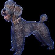 "SALE 1930s Rosenthal grey poodle 10"""