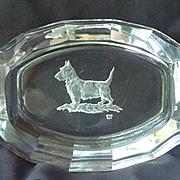 1920 art deco Scottish terrier  Czechoslovakia crystal