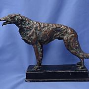 "art deco 1920s bronze Borzoi 11"""