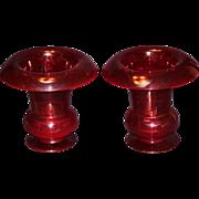 Pair of Striking Pairpoint Large Ruby Vases