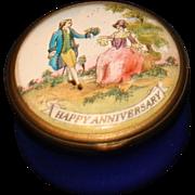 Halcyon Day Enamel Happy Anniversary Box