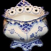 Royal Copenhagen Blue Fluted Full Lace Sugar Bowl #1112