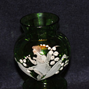 Vintage Mary Gregory Vase