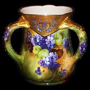 Rare Lenox Belleek Hand Painted Loving Cup