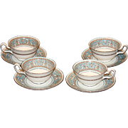 Wedgwood Florentine Cups and Saucers-Set of Four(4)