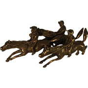 Bronze Grouping of Galloping Horses with Jockeys