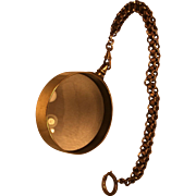 Magnifying Glass on Brass Chain