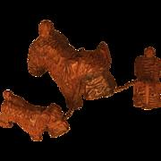 SOLD Set of Three ANRI dogs