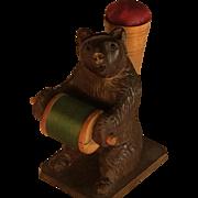 Black Forest Bobbin Bear with Pincushion