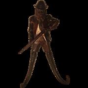 Black Forest Alpine Hunter Figure Crop Hook with Chamois Hooks.