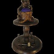 Black Forest Bear Bobbin Stand - c1890.