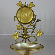 Mother of Pearl Pocket Watch Holder and Bell