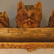 Black Forest Inkwell and Stamp Box with Three dogs
