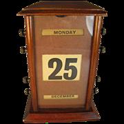 English Mahogany Perpetual Calendar