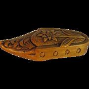 SALE Wooden Shoe Snuff