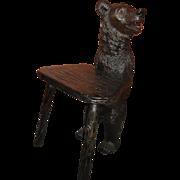Black Forest Bear Chair