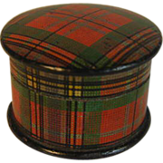 SOLD Tartan Ware Salve Pot - M'Lean
