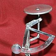 Silver Plate Dutch Quadrant Scale
