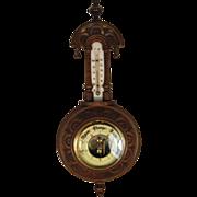 SALE English Mahogany Pendant Barometer