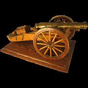 Hand Made Napoleonic Field Gun c1815 Model on Plinth