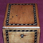 Treen Folding Pocket Watch Holder with  Maple Banded Inlay - c1890.