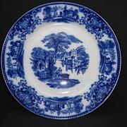 "Ravishing Antique ""Shanghai"" Flow Blue Plate Grindley & Co."