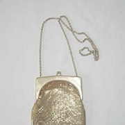 Whiting and Davis Gold Mesh Vintage Evening Purse