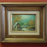 Beautiful Oil Painting Framed Oil On Board