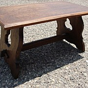 French Antique Rustic Stool Antique Bench Antique Side Table Gothic Furniture