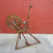 Antique Spinning Wheel Primitive Country Antiques
