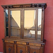 French Antique Rustic Bookcase Antique Display Cabinet Hutch Antique Furniture