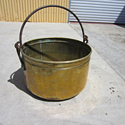 French Antique Copper Pot Cauldron Kettle