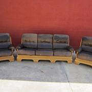 Spanish Antique 3 Piece Sofa Couch Set Antique Rustic Furniture