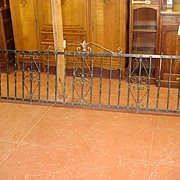 French Antique Hand Forged Wright Iron Gate Banister Balcony