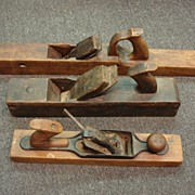 Set of 3 Antique Wood Planes Antique Wood Working Tools