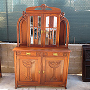 French Antique Art Nouveau Hutch Server Cabinet Antique Furniture